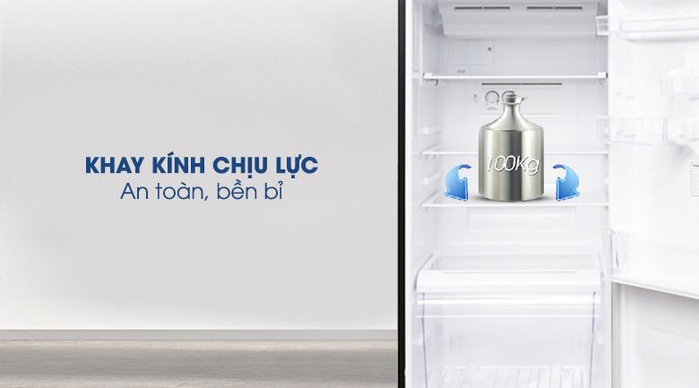 Ngăn kệ làm từ kính chịu lực, chứa được nhiều thực phẩm - Tủ lạnh Toshiba Inverter 330 lít GR-AG39VUBZ XK1