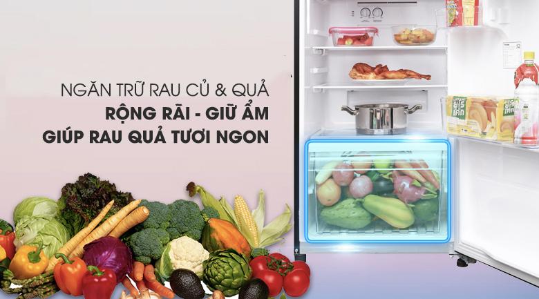 Ngăn rau củ quả tiện lợi - Tủ lạnh Toshiba Inverter 330 lít GR-AG39VUBZ XK1