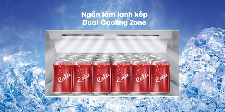 Ngăn làm lạnh kép - Tủ lạnh Toshiba Inverter 330 lít GR-AG39VUBZ XK1