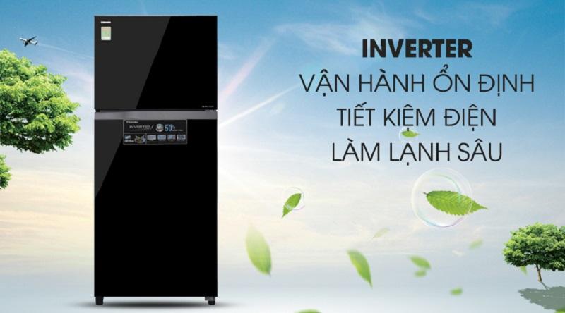 Vận hành ổn định hơn với công nghệ inverter - Tủ lạnh Toshiba Inverter 359 lít GR-AG41VPDZ XK1