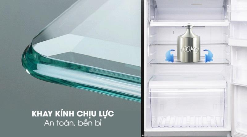 Khay kính thiết kế chịu lực cực tốt - Tủ lạnh Toshiba Inverter 359 lít GR-AG41VPDZ XK1