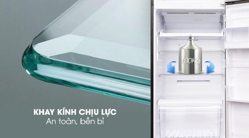 Khay kính chịu lực bền bỉ - Tủ lạnh Toshiba Inverter 409 lít GR-AG46VPDZ XK1