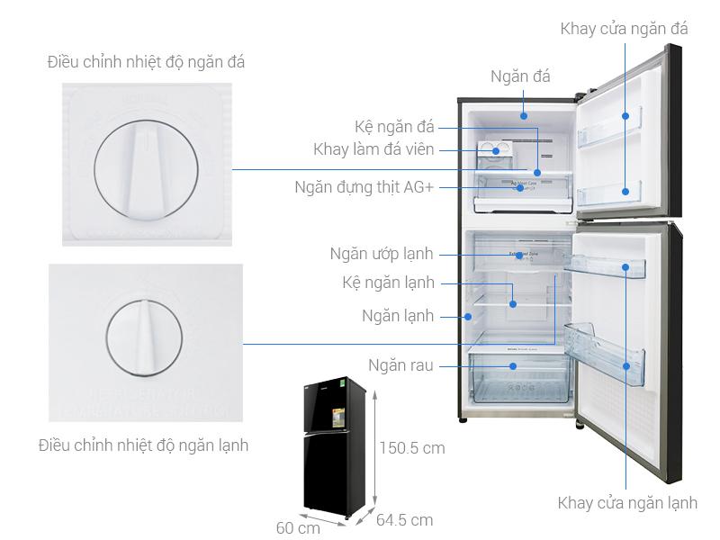 Thông số kỹ thuật Tủ lạnh Panasonic Inverter 268 lít NR-BL300PKVN