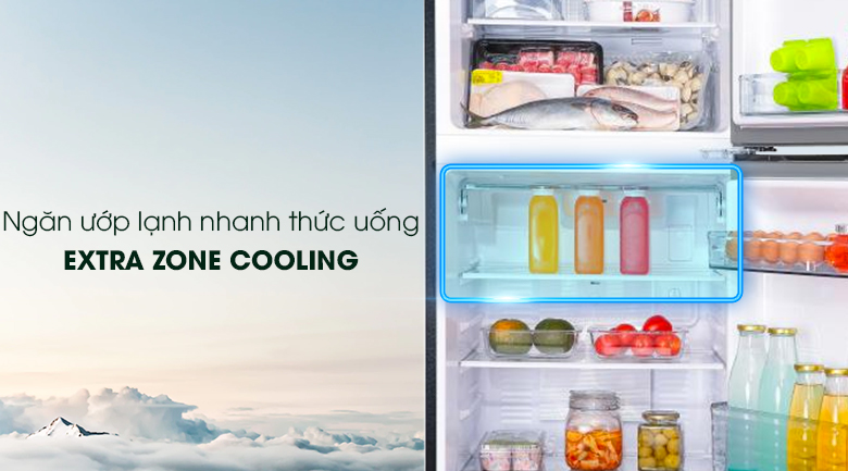 Ngăn ướp lạnh - Tủ lạnh Panasonic Inverter 268 lít NR-BL300PKVN