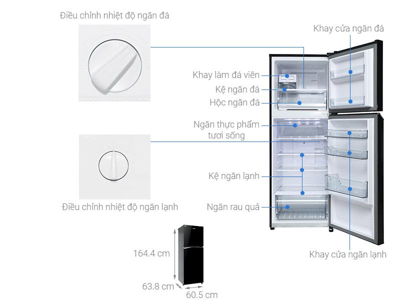 Thông số kỹ thuật Tủ lạnh Panasonic Inverter 306 lít NR-BL340PKVN