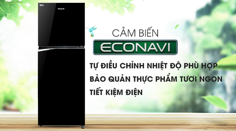 Cảm biến Econavi - Tủ lạnh Panasonic Inverter NR-BL340PKVN
