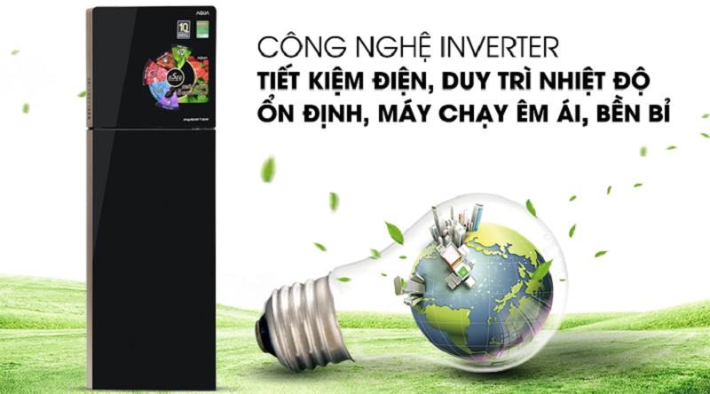 Tích hợp công nghệ inverter hiện đại  - Tủ lạnh Aqua Inverter 270 lít AQR-IG288EN (GB)