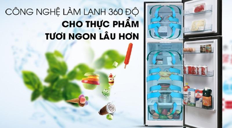 Hệ thống làm lạnh đa chiều duy trì nhiệt độ tốt hơn - Tủ lạnh Aqua Inverter 270 lít AQR-IG288EN (GB)