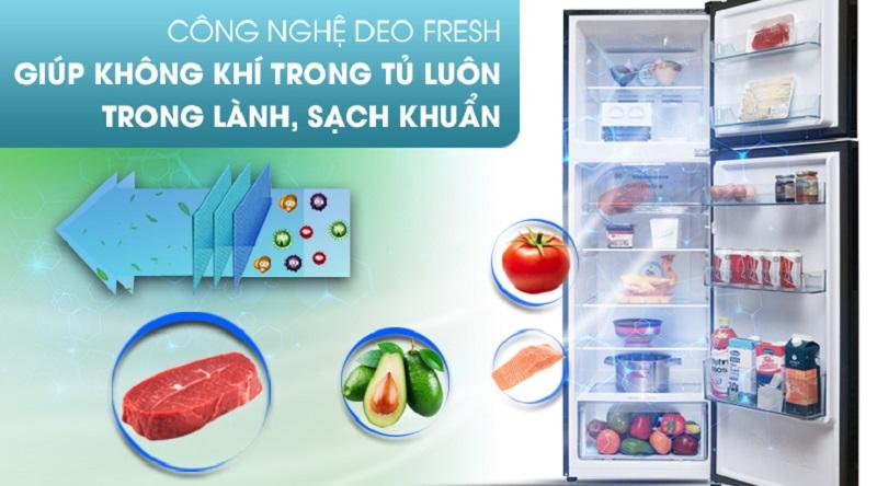 Kháng khuẩn, khử mùi với công nghệ Deo Fresh - Tủ lạnh Aqua Inverter 270 lít AQR-IG288EN (GB)