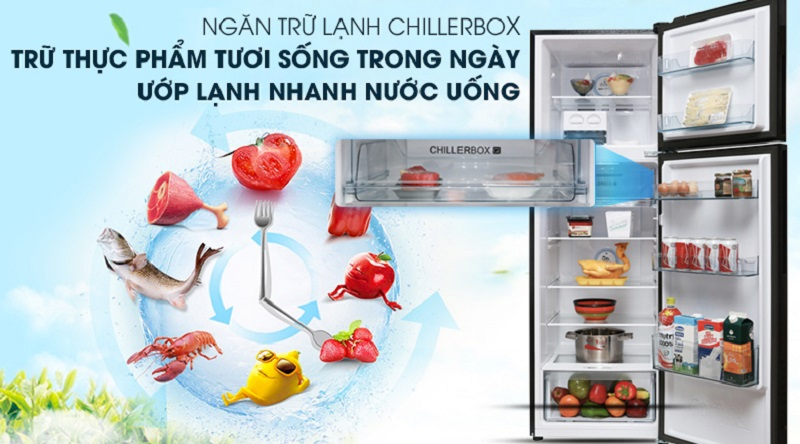 Ngăn trữ lạnh Chiller làm lạnh nhanh, chống lẫn mùi - Tủ lạnh Aqua Inverter 270 lít AQR-IG288EN (GB)