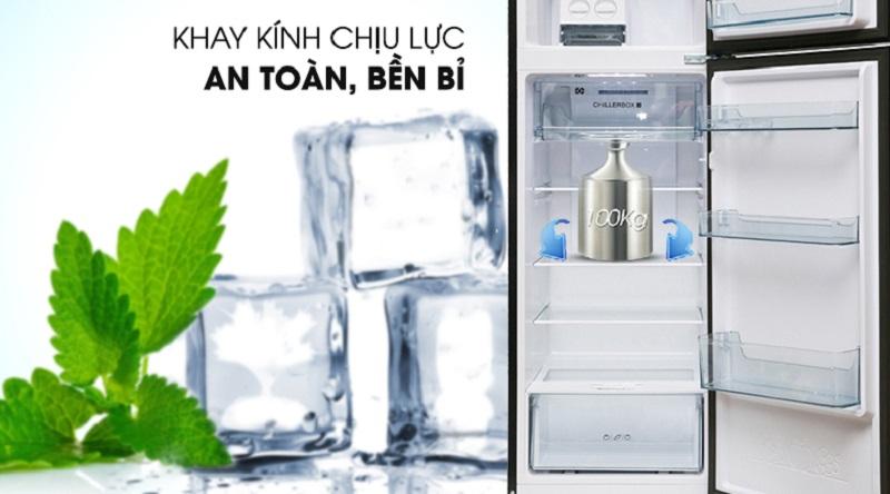 Khay chứa thiết kế an toàn, bền bỉ - Tủ lạnh Aqua Inverter 270 lít AQR-IG288EN (GB)