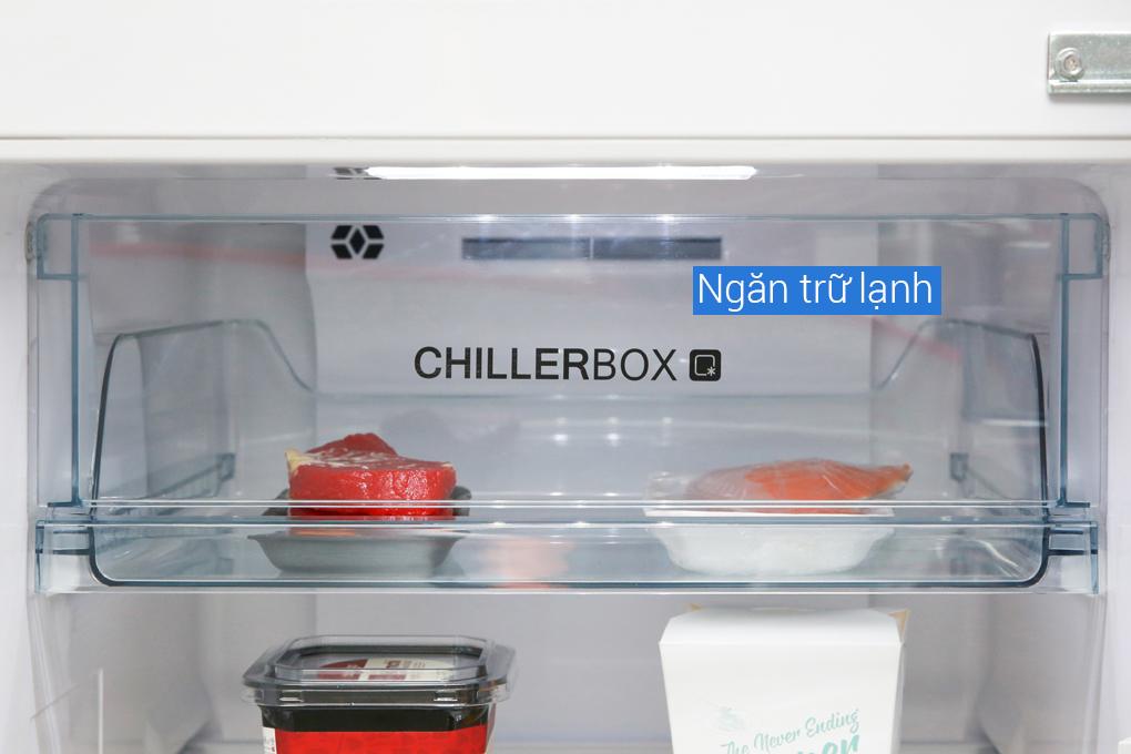 Ngăn chiller - Tủ lạnh Aqua Inverter 270 lít AQR-IG288EN (GB)