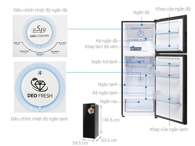 Thông số kỹ thuật Tủ lạnh Aqua Inveter 235 lít AQR-IG248EN (GB)