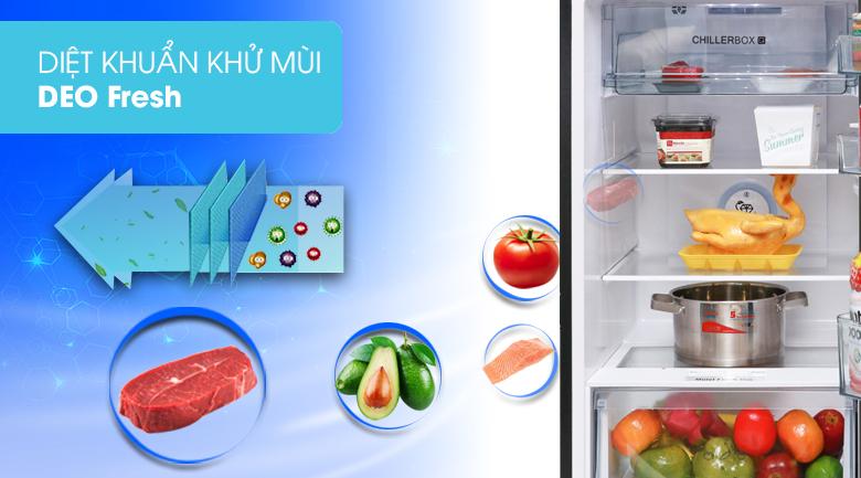 Lọc sạch không khí với hệ thống khử mùi Deo Fresh - Tủ lạnh Aqua Inverter 270 lít AQR-IG288EN (GB)