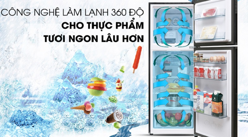 Công nghệ inverter tối ưu điện năng hiệu quả - Tủ lạnh Aqua Inveter 235 lít AQR-IG248EN (GB)