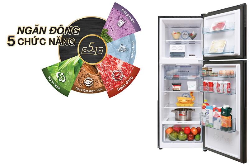 Ngăn đông với 5 chức năng tiện ích - Tủ lạnh Aqua Inverter 270 lít AQR-IG288EN (GB)