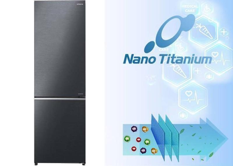 Lọc sạch không khí với màng lọc Nano Titanium - Tủ lạnh Hitachi Inverter 275 lít R-B330PGV8 BBK