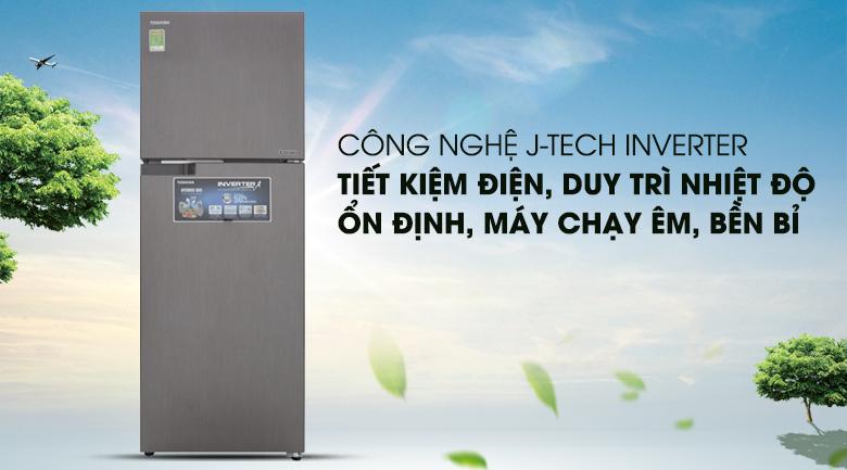 Tiết kiệm điện hơn với công nghệ Inverter hiện đại - Tủ lạnh Toshiba Inverter 305 lít GR-A36VUBZ DS1