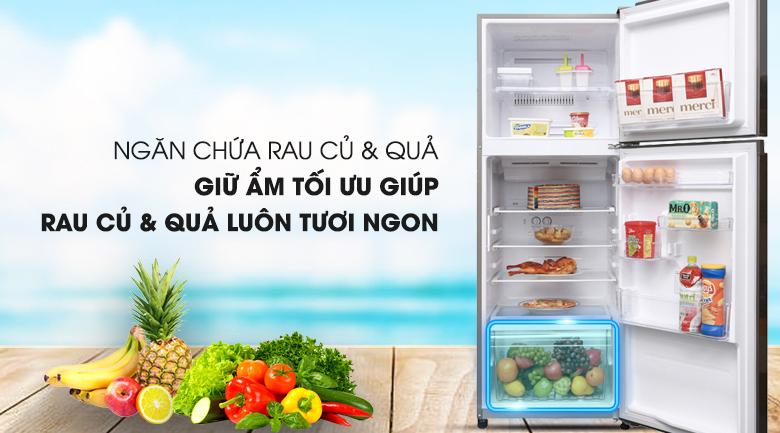 Bảo quản tốt hơn cho rau củ với ngăn chứa thiết kế rộng hơn - Tủ lạnh Toshiba Inverter 305 lít GR-A36VUBZ DS1