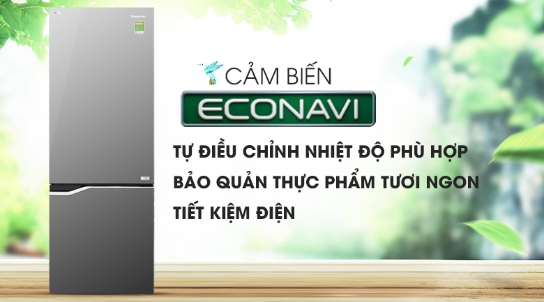 Cảm biến Econavi - Tủ lạnh Panasonic Inverter 290 lít NR-BV328GMV2
