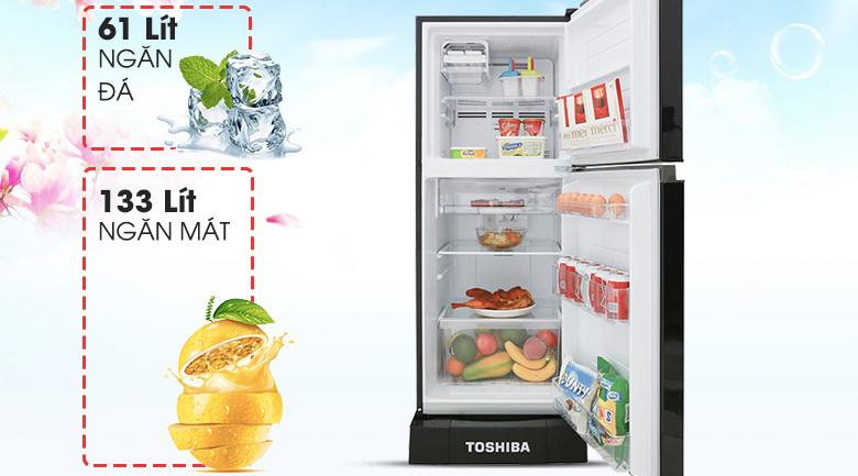 Tủ lạnh Toshiba Inverter 194 lít GR-A25VM (UKG) - Dung tích 194 lít