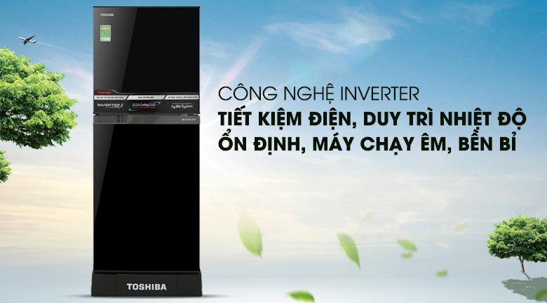 Vận hành ổn định tiết kiệm điện năng với công nghệ inverter - Tủ lạnh Toshiba Inverter 194 lít GR-A25VM (UKG)