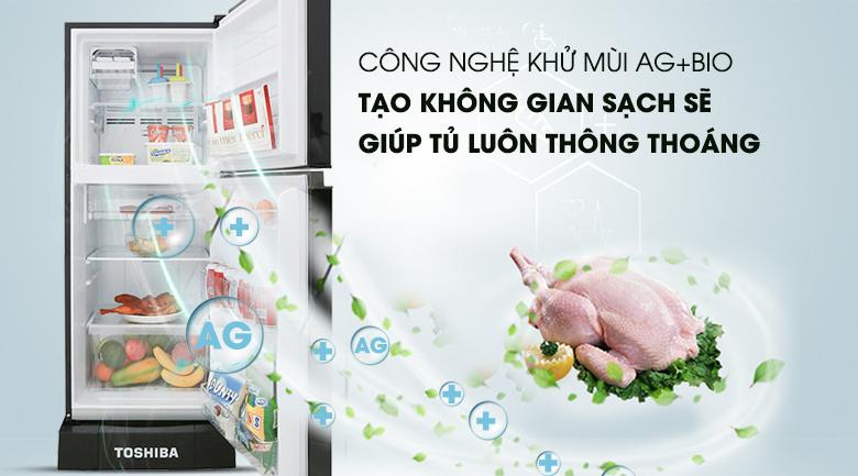 Công nghệ Ag Bio hỗ trợ kháng khuẩn, khử mùi cho tủ lạnh - Tủ lạnh Toshiba Inverter 194 lít GR-A25VM (UKG)