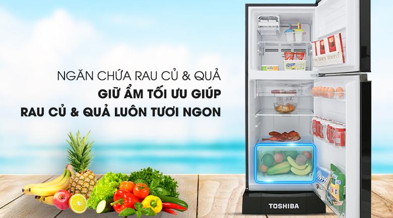 Giữ ẩm tốt cho rau củ với ngăn chứa cỡ lớn - Tủ lạnh Toshiba Inverter 194 lít GR-A25VM (UKG)