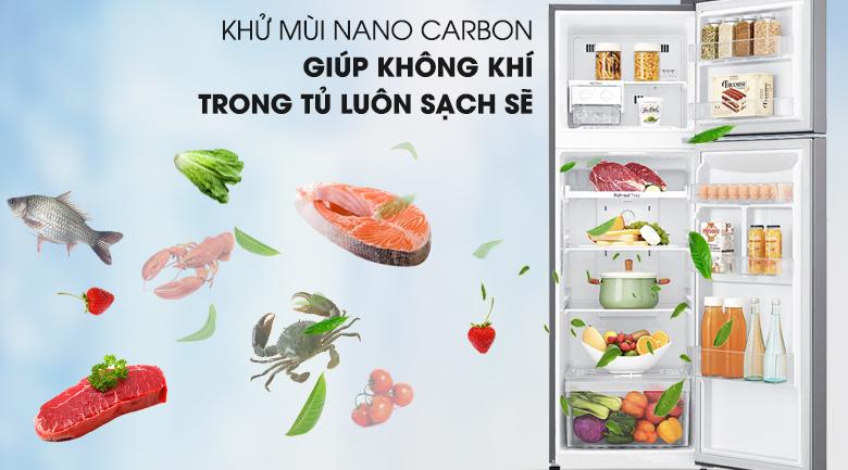 Công nghệ Nano Carbon hiện đại - Tủ lạnh LG Inverter 255 lít GN-L255S