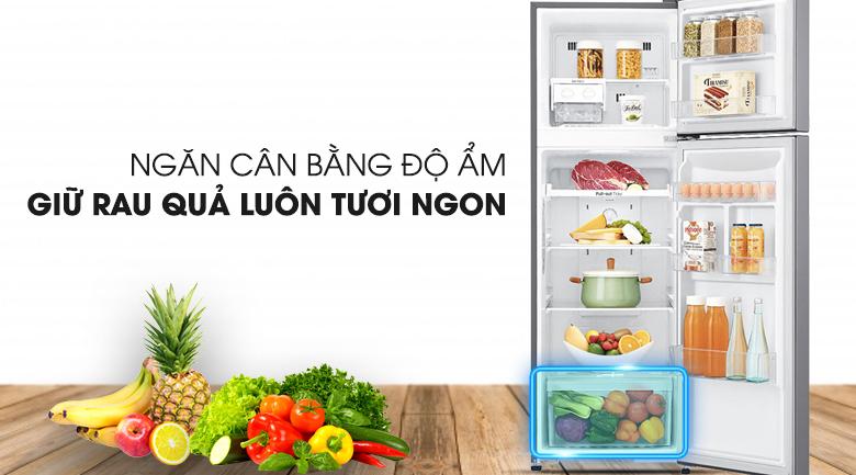 Ngăn trữ rau củ quả cân bằng độ ẩm - Tủ lạnh LG Inverter 255 lít GN-L255S