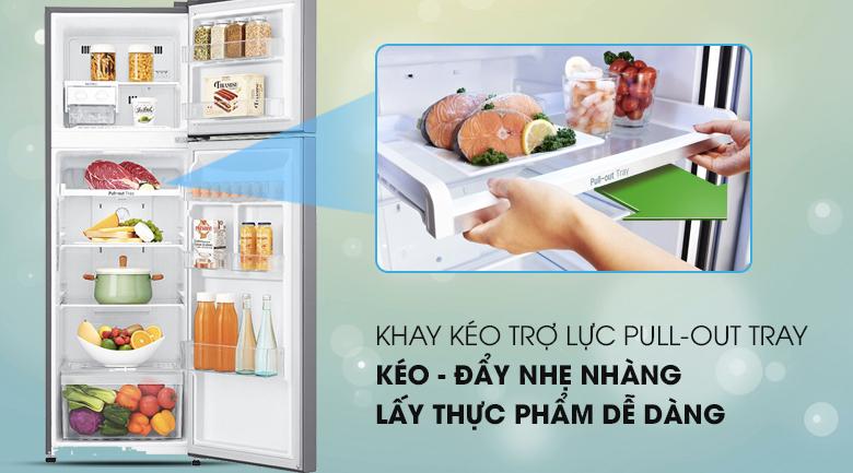 Ngăn kệ thiết kế linh hoạt, tiện dụng - Tủ lạnh LG Inverter 255 lít GN-L255S