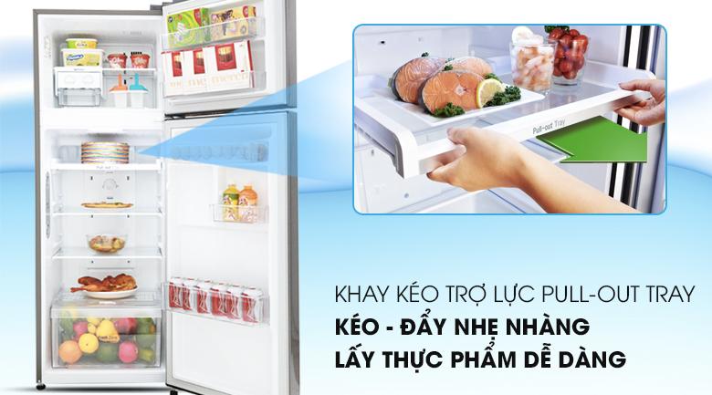 Ngăn kệ linh hoạt, tiện dụng - Tủ lạnh LG Inverter 208 lít GN-L208S