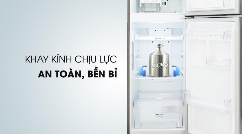 Khay chứa thực phẩm chịu lực tốt - Tủ lạnh LG Inverter 208 lít GN-L208S