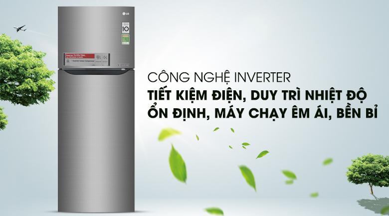 Tiết kiệm năng lượng hiệu quả với công nghệ Inverter - Tủ lạnh LG Inverter 208 lít GN-L208S