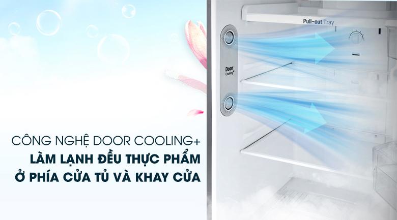 Làm lạnh nhanh, đồng đều với DoorCooling - Tủ lạnh LG Inverter 208 lít GN-L208S