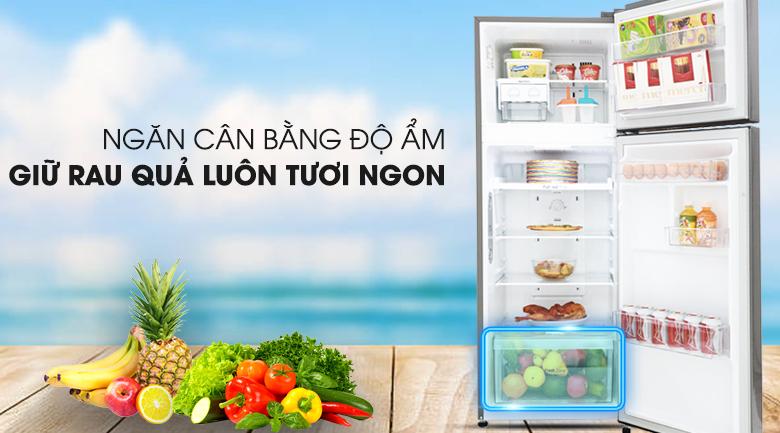 Rau quả luôn tươi ngon, mọng nước - Tủ lạnh LG Inverter 208 lít GN-L208S