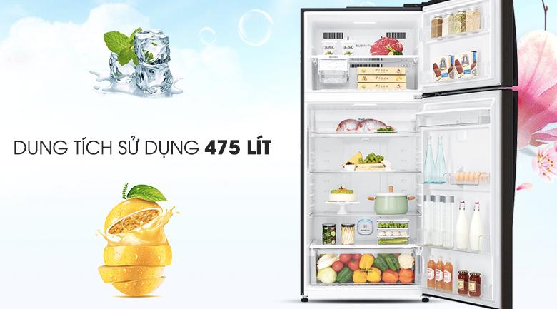 Tủ lạnh LG Inverter 475 lít GN-D602BL - Dung tích
