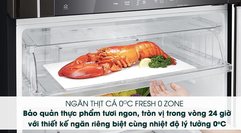 Ngăn Fresh O Zone - Tủ lạnh LG Inverter 475 lít GN-D602BL
