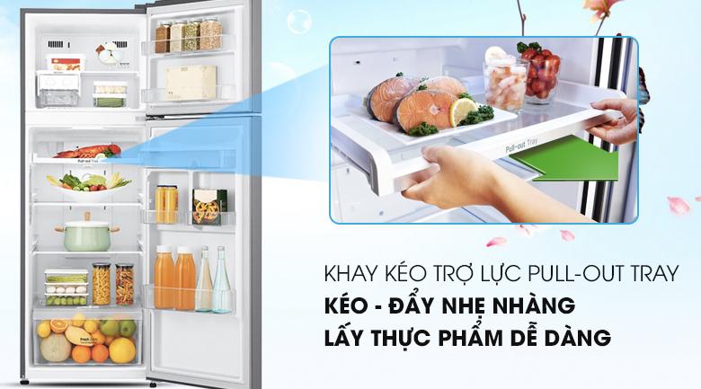Khay kệ thay đổi linh hoạt - Tủ lạnh LG Inverter 393 lít GN-D422PS