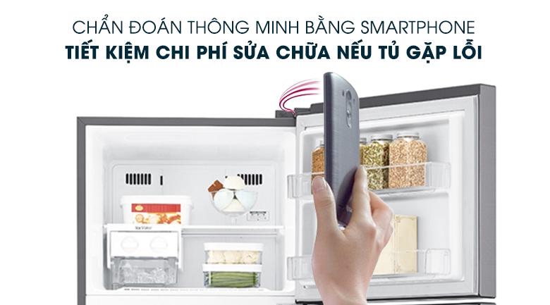 Chẩn đoán thông minh - Smart Diagnosis - Tủ lạnh LG Inverter 393 lít GN-D422PS