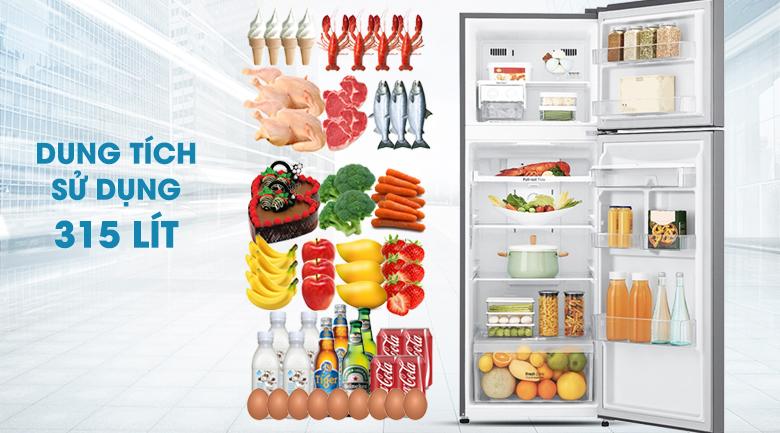 Dung tích lên đến 393 lít - Tủ lạnh LG Inverter 393 lít GN-D422PS