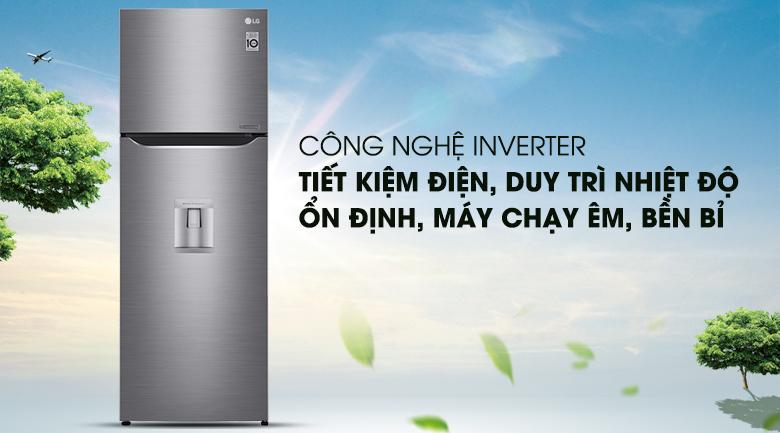 Tiết kiệm điện với công nghệ Linear Inverter - Tủ lạnh LG Inverter 393 lít GN-D422PS