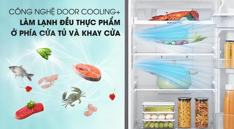 Công nghệ DoorCooling+ cân bằng nhiệt độ - Tủ lạnh LG Inverter 393 lít GN-D422PS