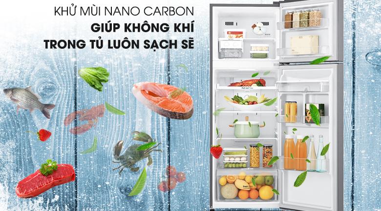 Kháng khuẩn, khử mùi với công nghệ Nano Carbon - Tủ lạnh LG Inverter 393 lít GN-D422PS