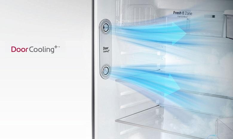 Làm lạnh từ cửa tủ - Tủ lạnh LG Inverter 393 lít GN-D422PS