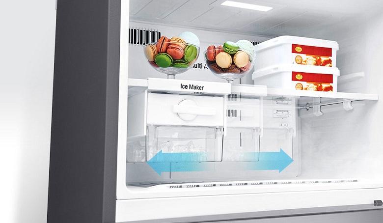Hộp đá xoay di động - Tủ lạnh LG Inverter 393 lít GN-D422PS