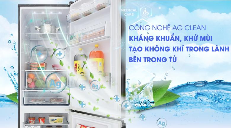 Kháng khuẩn, khử mùi hiệu quả hơn với công nghệ Ag Clean - Tủ lạnh Panasonic Inverter 322 lít NR-BV368GKV2