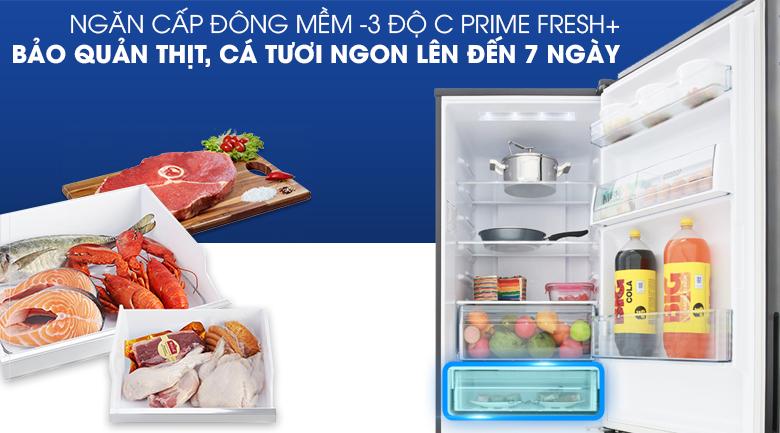Tiết kiệm thời gian hơn với ngăn cấp đông mềm - Tủ lạnh Panasonic Inverter 322 lít NR-BV368GKV2
