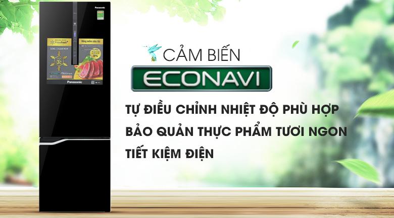 Cảm biến Eco - Tủ lạnh Panasonic Inverter 322 lít NR-BV368GKV2