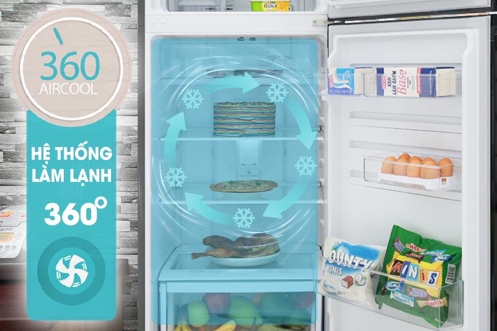 Làm lạnh 360 độ - Tủ lạnh Electrolux Inverter 318 lít ETB3400HH